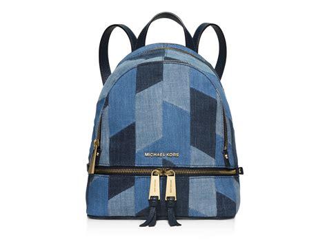 Backpack Denim Forest michael michael kors small rhea denim backpack in blue lyst