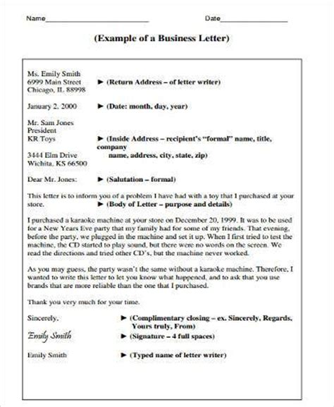Forms Of Business Letter Pdf Sle Business Letter Forms 8 Free Documents In Word Pdf