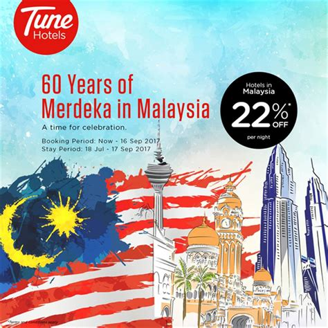 new year hotel promotion malaysia tune hotels 60 years of merdeka in malaysia enjoy 22