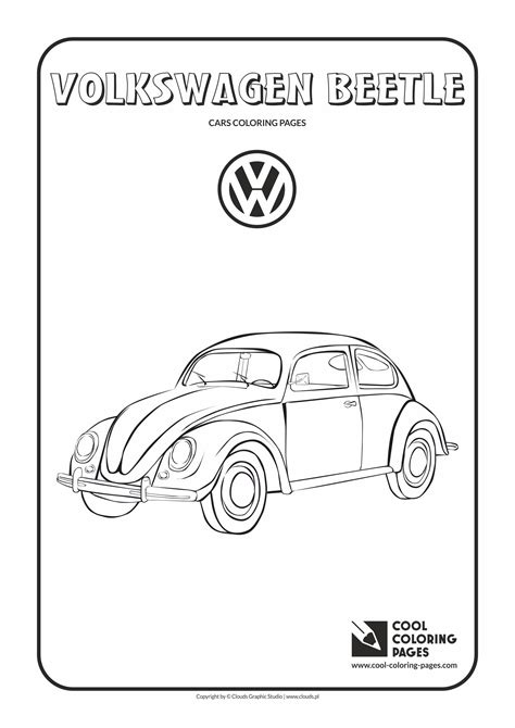 printable coloring pages vw bug printable coloring pages vw bug