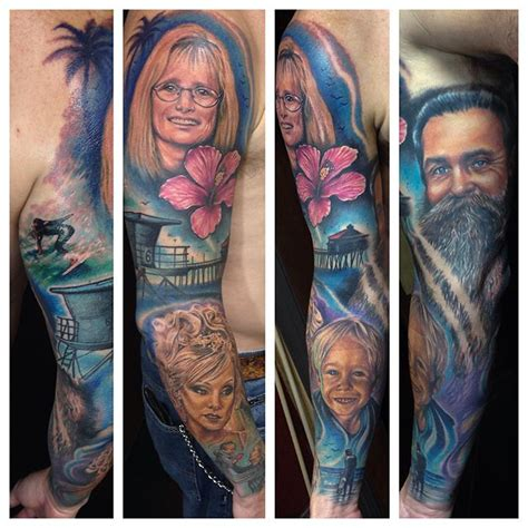 tattoo family photography family tribute sleeve by london reese tattoonow