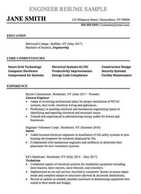 resume format systems engineer engineering resume sle chegg careermatch