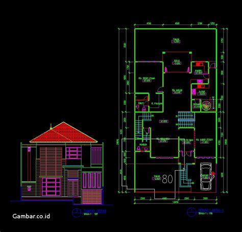 denah rumah minimalis autocad cat rumah minimalis