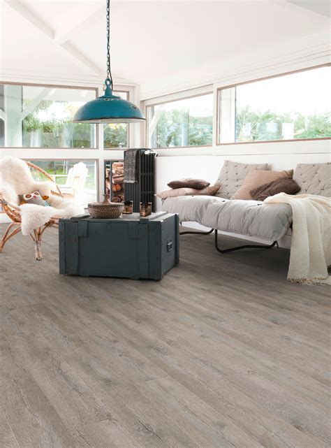 Anti slip self adhesive floor tiles with wood effect SENSO