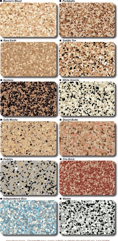 Granitex Flooring Color Chart  Garage Excell
