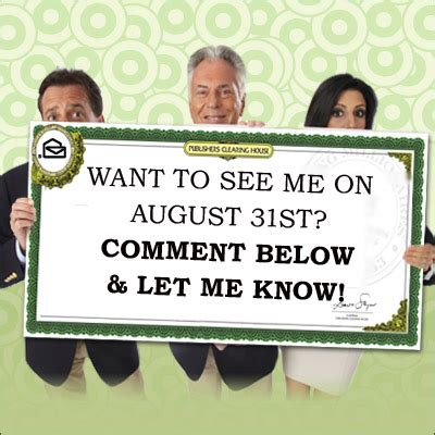 Pch August 31 2016 - pch big check asks who wants to meet me pch blog