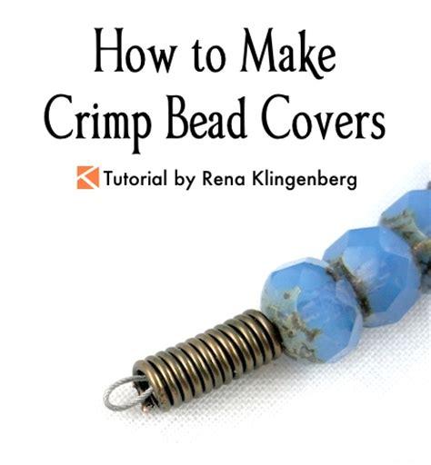 how to crimp a crimp bead how to make crimp bead covers tutorial jewelry