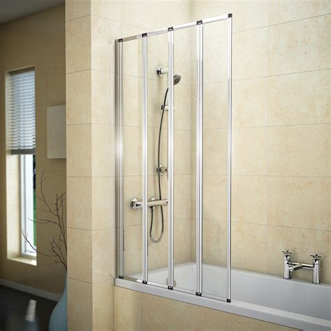 folding bath shower screen haro 4 fold bath screen now available at