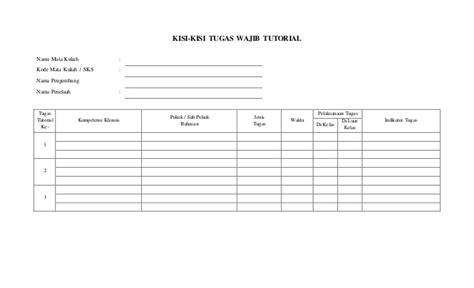 catatan tutorial pkp ut format laporan tutor universitas terbuka 2014
