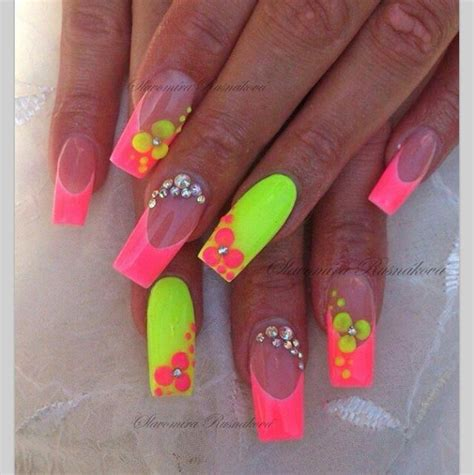 neon pattern nails oh hot neon colors nails design nails pinterest