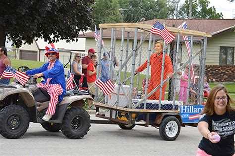 Hillary Hit Hard Daily Times Herald Parade Float Shows Executing Clinton Americans Are