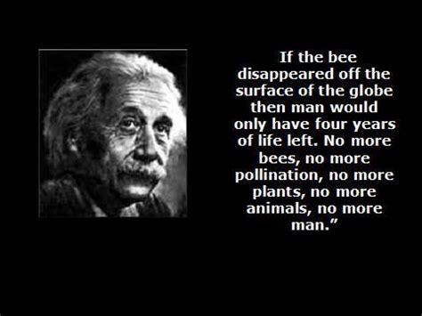 No More Dying Then albert einstein bees quote is basically that einstein was a genius einstein said without bees