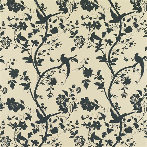 oriental designs oriental garden natural charcoal floral wallpaper at laura