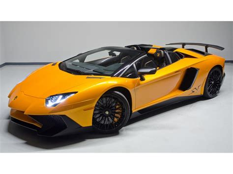 convertible lamborghini lamborghini aventador lp 750 4 superveloce roadster listed