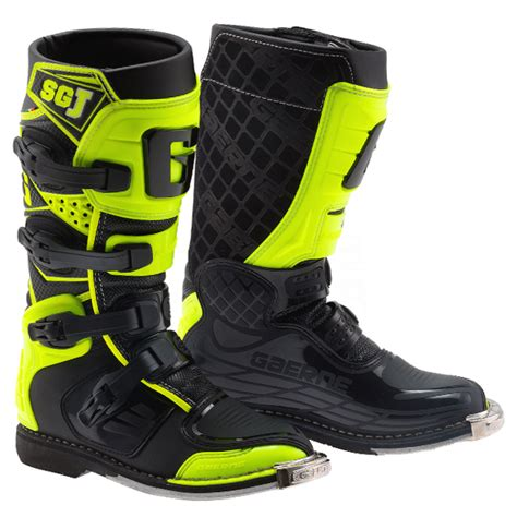 childrens motocross boots gaerne sgj youth boots black fluo yellow
