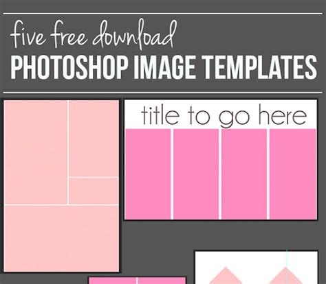 How To Create A Photoshop Image Template And Free Downloads Page 2 Of 2 The Girl Creative Free Photoshop Collage Templates