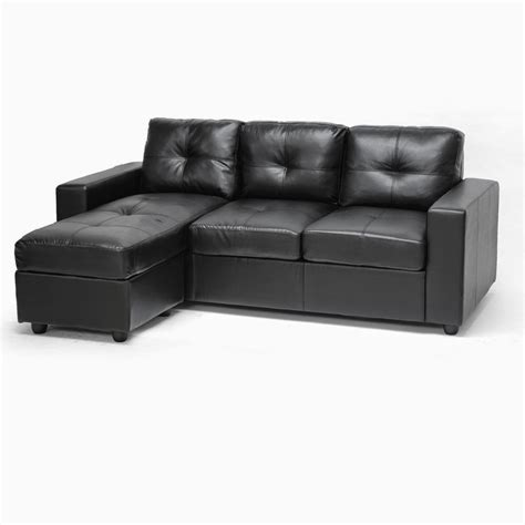 cheap black leather sofa black leather couch