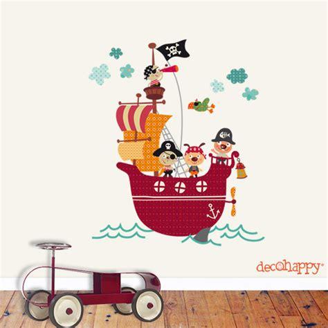 barco pirata kidd vinilo infantil barco pirata habitaciones tematicas