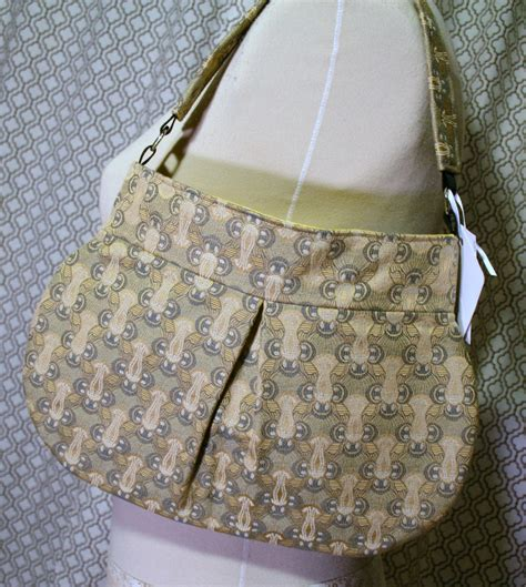 Fabric Handbags Handmade - gold tone fabric shoulder bag handmade handbag fabric purse