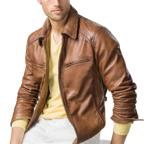 mens leather biker jacket tan mens leather biker jacket brown color leather jacket