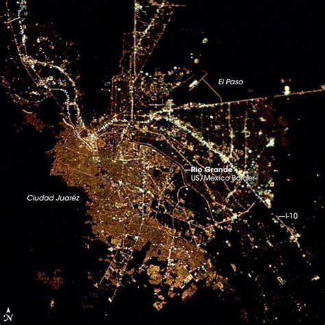 el paso maps satellite el paso juarez at satellite photo horn