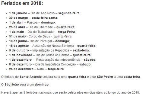 Calend 2018 Feriados Nacionais Portugal Calend 227 2018 Feriados Nacionais 28 Images Calendar