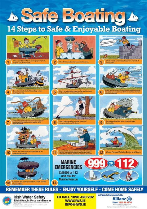 boat safety procedures des516 ppd projects pro four posters on safety at sea