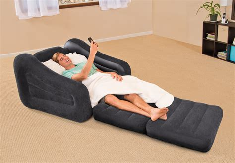 inflatable boat bed intex inflatable air chair with pull out twin bed mattress
