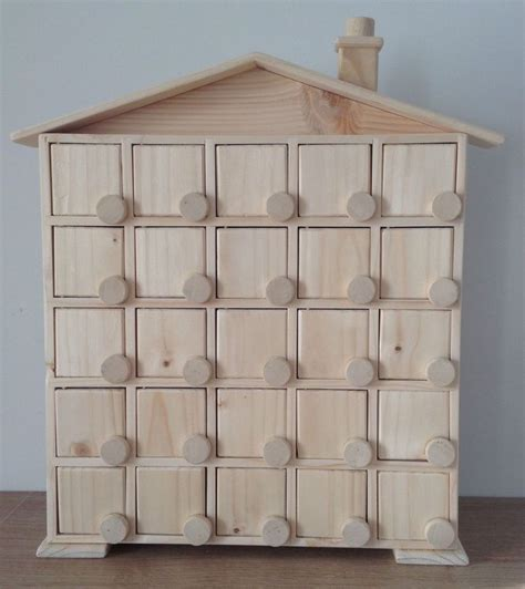 Handmade Wooden Advent Calendar - handmade wooden advent calendar house for your own