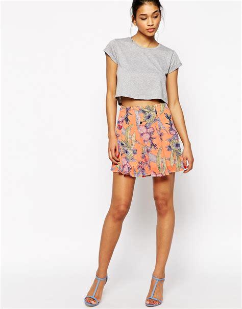 flower patterned mini skirt floral skirt dressed up girl