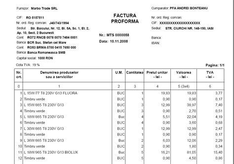 factura proforma o carta de oferta caracter 237 sticas de la factura proforma modelo factura