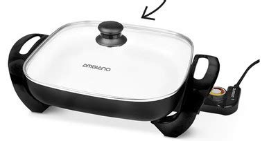 Ambiano 12 Quot Electric Skillet With Nonstick Ceramic Coating