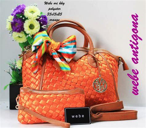 Tas Wanita Fashion Lv Pink Fanta tas webe antigona ori polyester orange harga murah