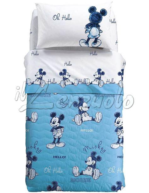 Copriletto Caleffi Disney by Copriletto Singolo Disney Mickey Ok Trapuntino Estivo