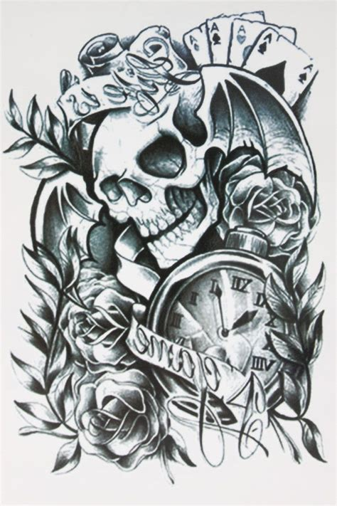 skull cards tattoo designs 25 best ideas about small wing tattoos on