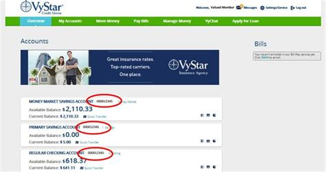 set up direct deposit vystar credit union