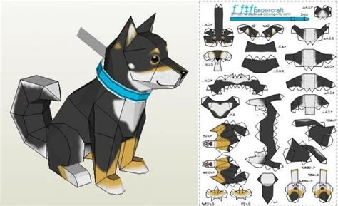 27 images of 3d paper dog template infovia net