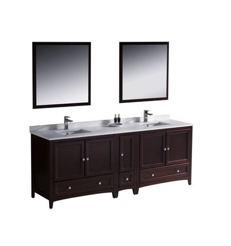 84 inch sink bathroom vanity in mahogany