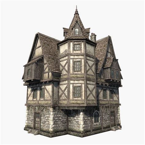 fantasy houses low polygon game 3d model of fantasy medieval house i
