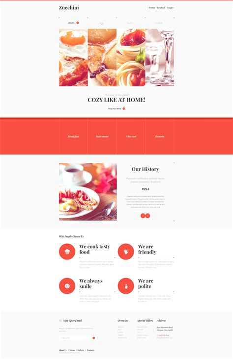 responsive website templates for quiz cafe and restaurant responsive website template 46908