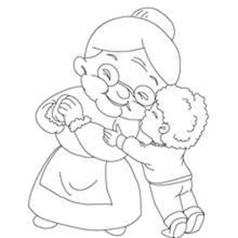 colorear abuela haciendo manualidades con sus nietos abuela dibujos para colorear lecturas infantiles