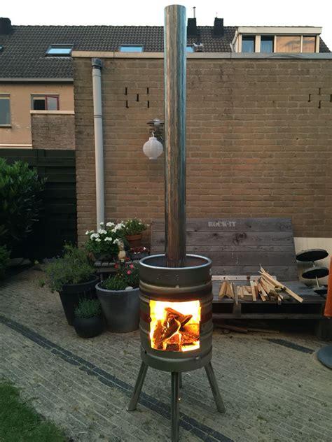 backyard beer beer keg outside fireplace pinteres