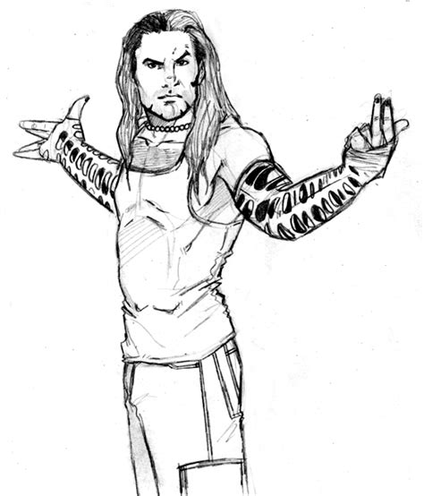 Jeff Hardy By Themonkeyyouwant On Deviantart Jeff Hardy Coloring Pages