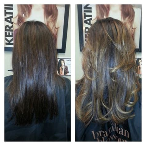 Partial Ombre Highlights Hair Addiction Before After