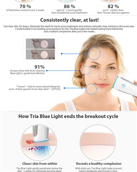 tria light therapy tria acne clearing blue light skin perfectiing treatment
