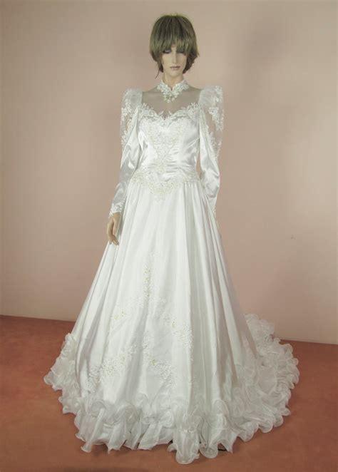 Wedding Dress Etsy by Illusion Neckline Wedding Dress Etsy