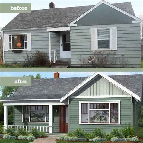 before and after photoshop redo arts and crafts exterior focused on the siding amazing