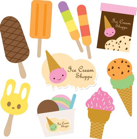 Vector cute ice cream Free Vector / 4Vector