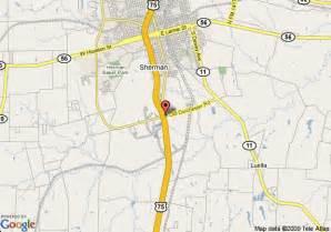 map of 8 motel sherman sherman