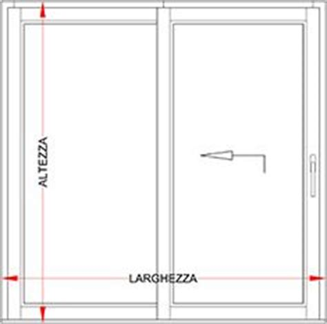 larghezza porta finestra portafinestra alluminio legno scorrevole alzante bologna